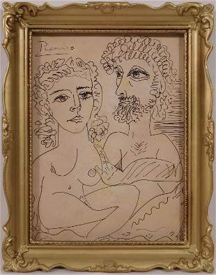 Pablo Picasso, Manner of: Two Entangled Figures