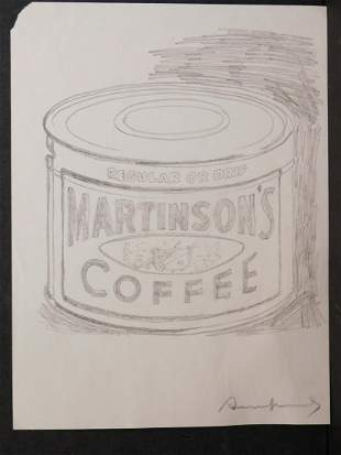 Andy Warhol Attributed: Martinson's Coffee