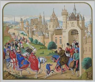 Schmit & Cie: Entrance of Queen Isabeau de Baviere in