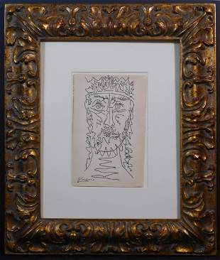 Pablo Picasso, Attributed: Homme Grec Barbu