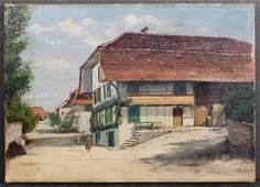 Continental School: 19th Century Village Scene