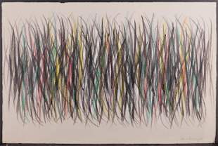 Hans Hartung Manner of/ Attributed: Untitled (Abstract
