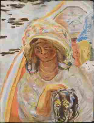 Pierre Bonnard: Jeune Fille dans une Barque (fragment)