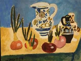 Henri Matisse (After): Table Top Still Life