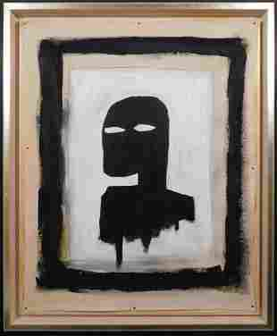 Jean-Michel Basquiat, Attributed: Black Silhouette