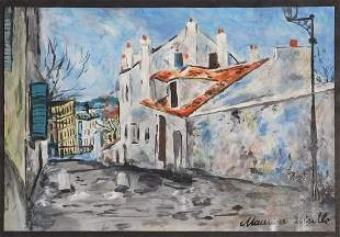 Maurice Utrillo, Attributed/ Manner of: View of Houses