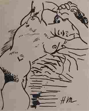Henri Matisse Manner of: Reclining Nude