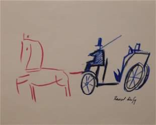 Raoul Dufy, Manner of: Le Carrose Etudi (Carriage)