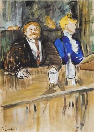 Henri de Toulouse-Lautrec Attr.: Bar Scene