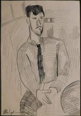 Amedeo Modigliani Manner of: Portrait of Leopold