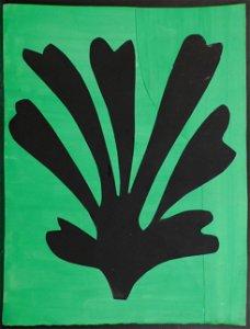 Henri Matisse, Manner of/ Attributed: Feuille Noire Sur