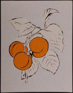 Andy Warhol Attr.: Three Peaches on a Branch
