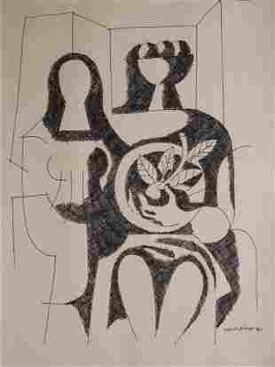Mario Carreno Attr.: Female Figures 1969