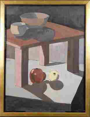 Ralston Crawford Attr. : Grey Still Life