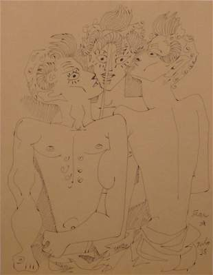 After Jean Cocteau: Three Fauns