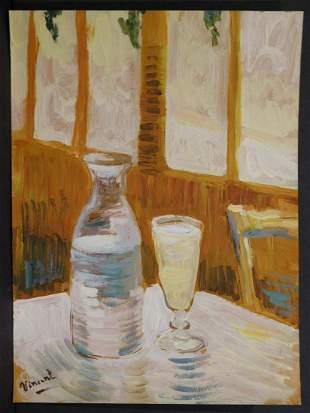 Vincent van Gogh, Manner of: Still Life with Absinth