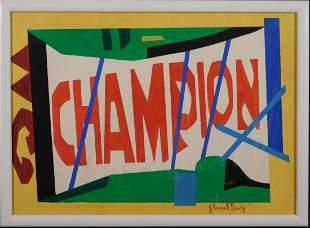 Stuart Davis Attributed: Champion