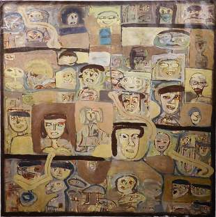 Stelian Ghiga: Original Abstract Romanian School