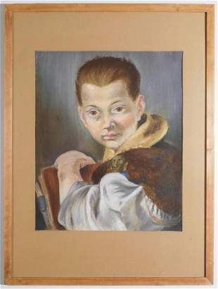Howard Besnia: Portrait of a Boy (After Tiepolo), 1945