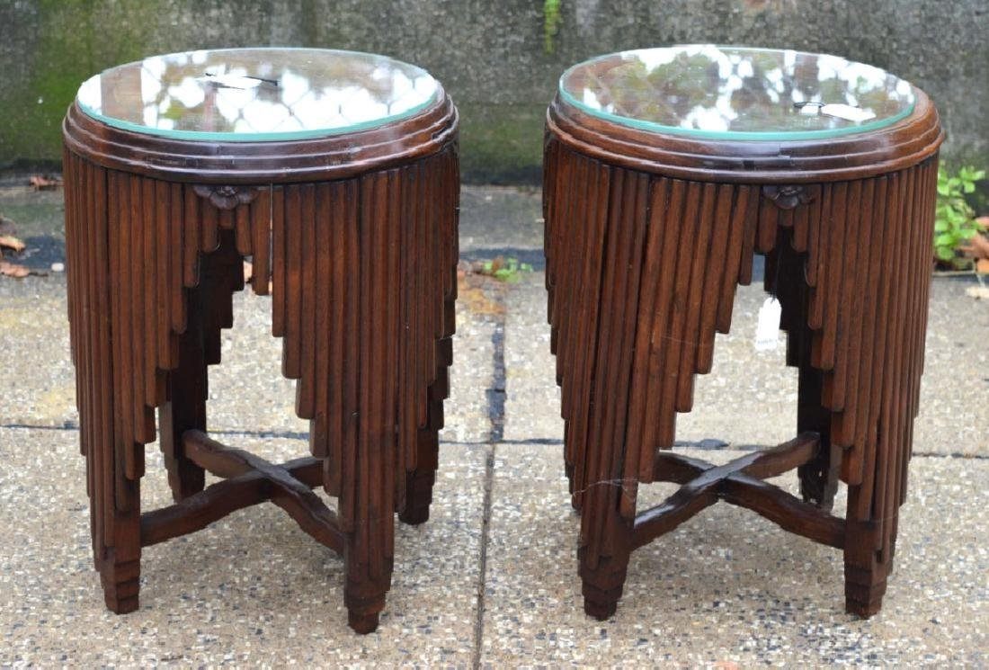 Sotheby's: Chinese Art Deco Hardwood Small Tables
