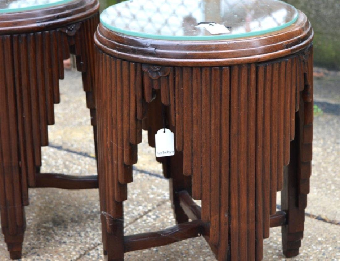 Sotheby's: Chinese Art Deco Hardwood Small Tables - 3