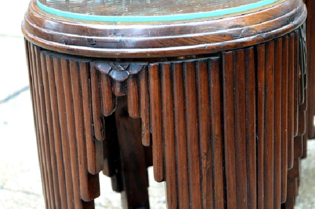Sotheby's: Chinese Art Deco Hardwood Small Tables - 6
