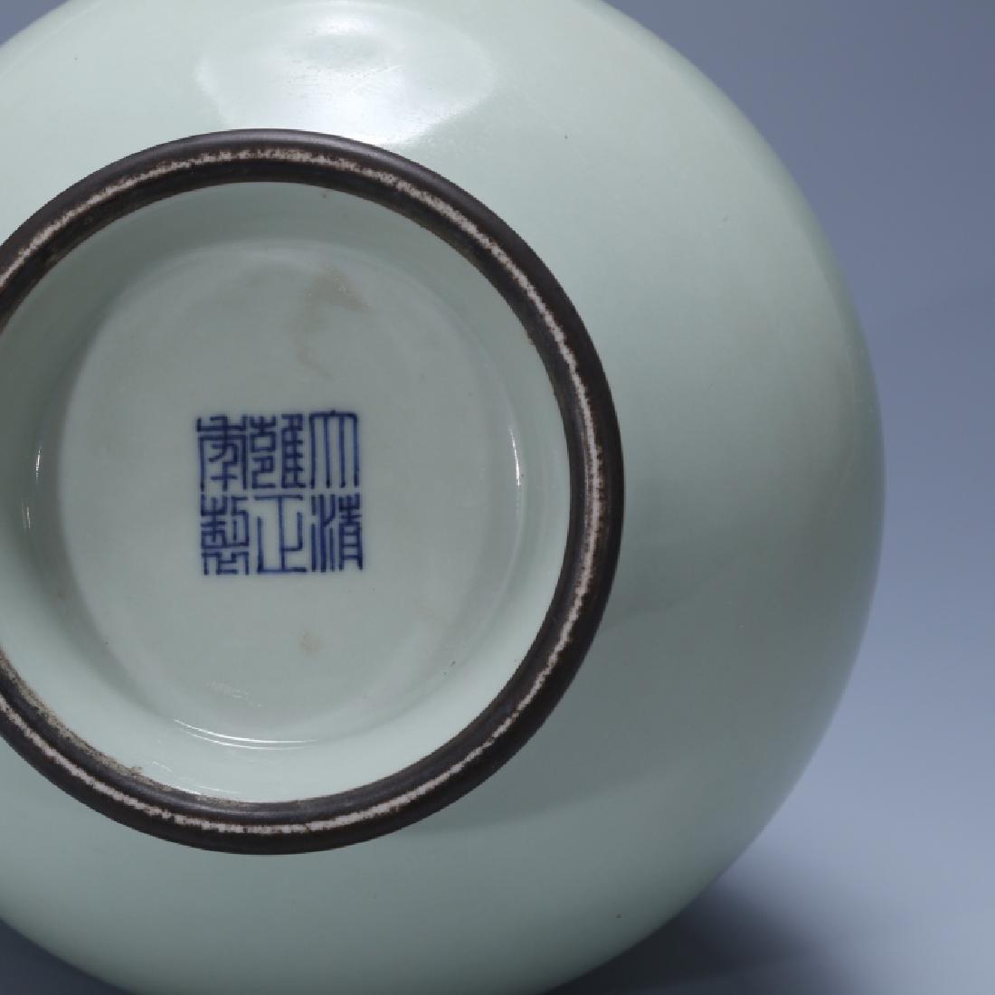 CHINESE CELADON GLAZED VASE, YONGZHENG MARK - 7