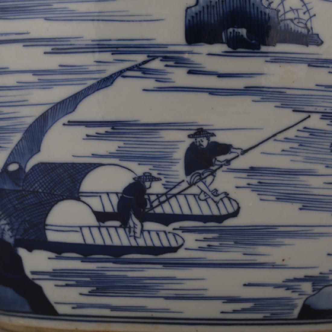 CHINESE BLUE & WHITE PORCELAIN JAR - 8