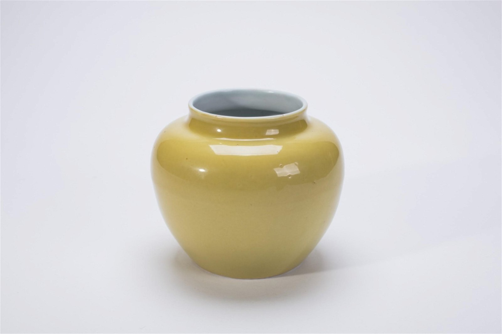 Chinese Ming Yellow Glazed Porcelain Jar