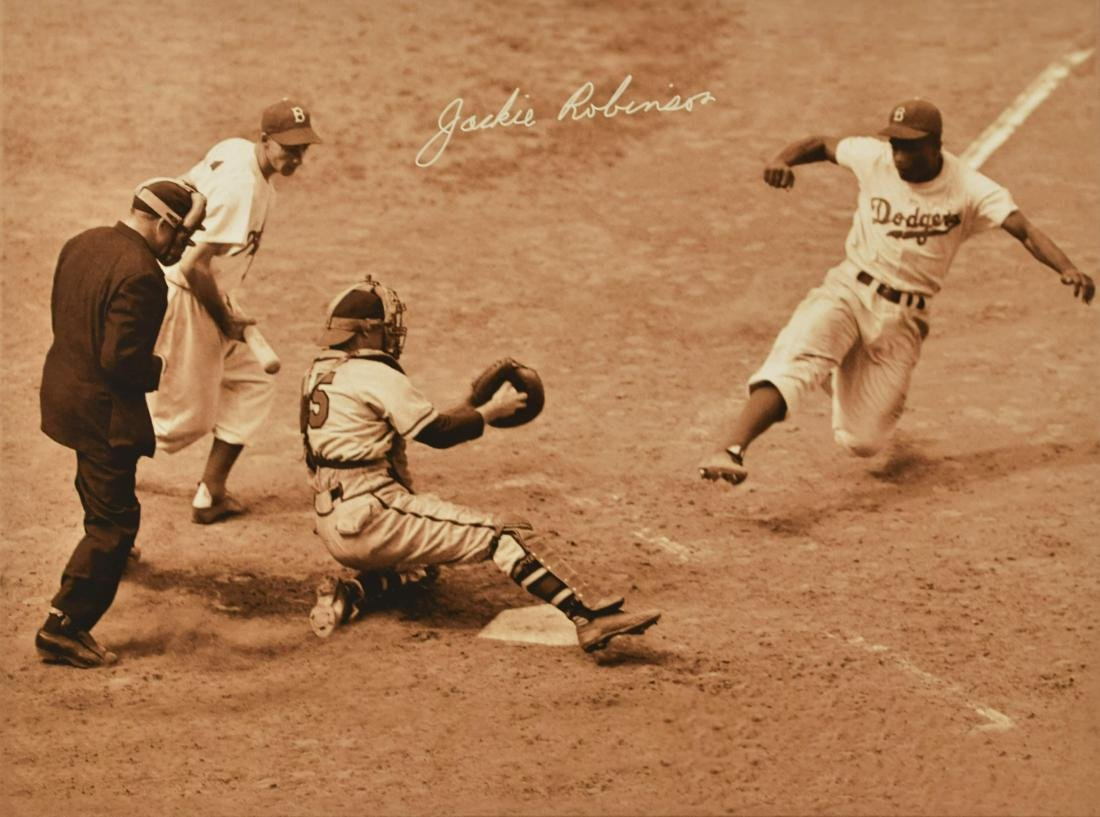 Jackie Robinson Steals Home Canvas