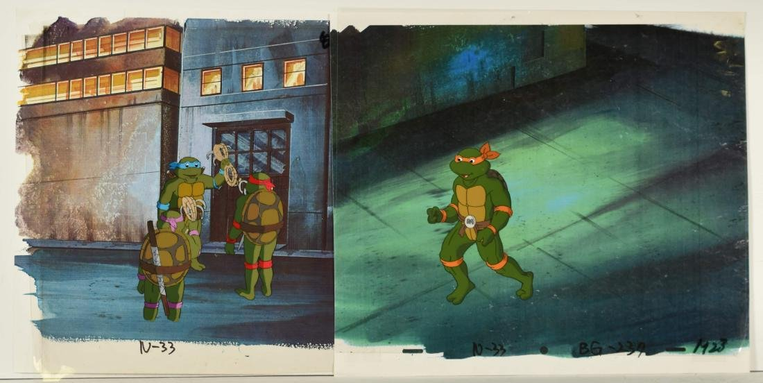 A Pair of (TMNT) Turtles Production Cels