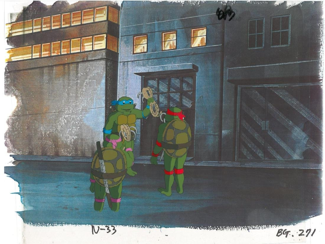 A Pair of (TMNT) Turtles Production Cels - 3