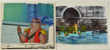 A Pair of TMNT Turtles Production Cels with April