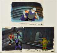 A Set of TMNT Turtles Production Cels with Shredder