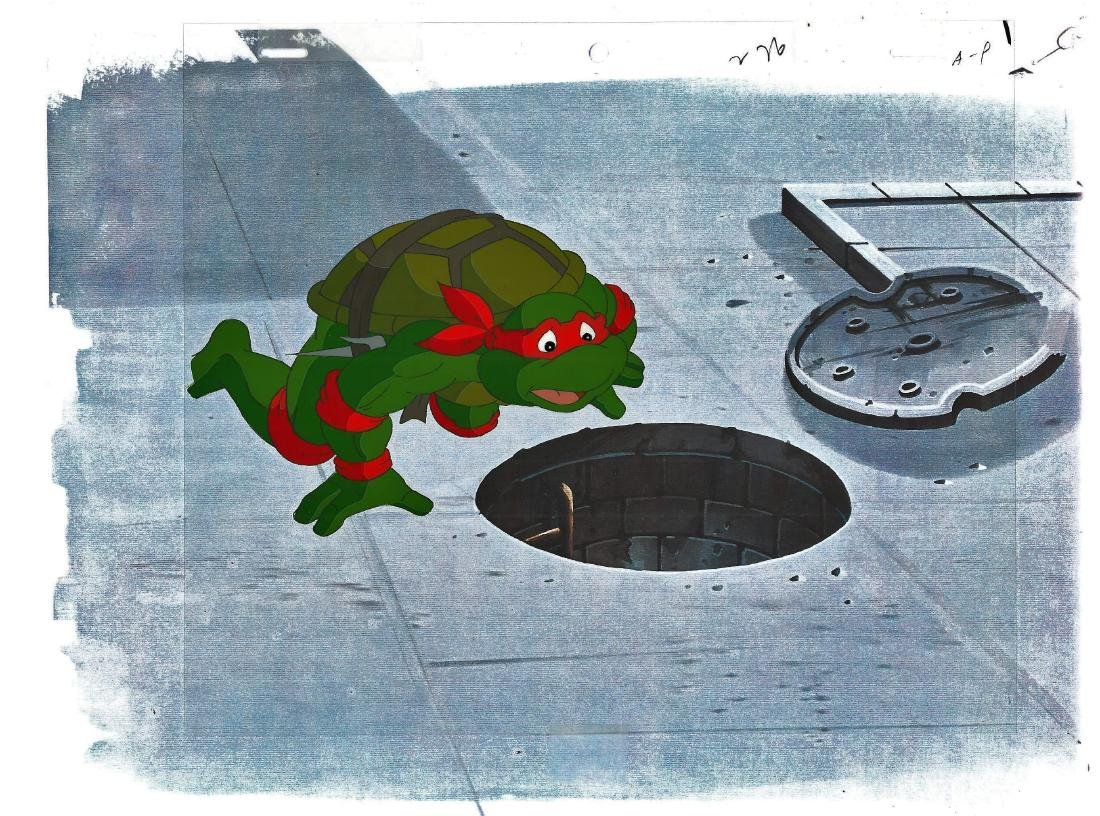 A Pair of (TMNT)Turtles Production Cels and Drawing - 2
