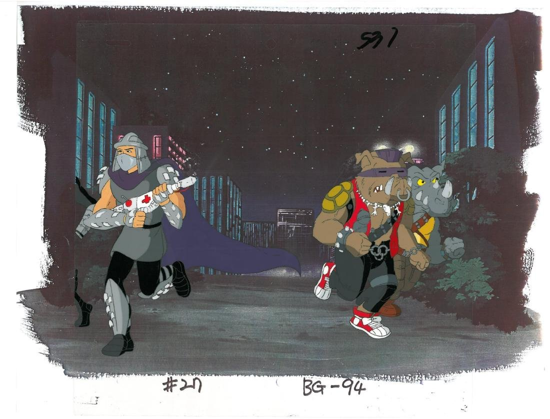 A Pair of (TMNT)Turtles Production Cels and Drawing - 3