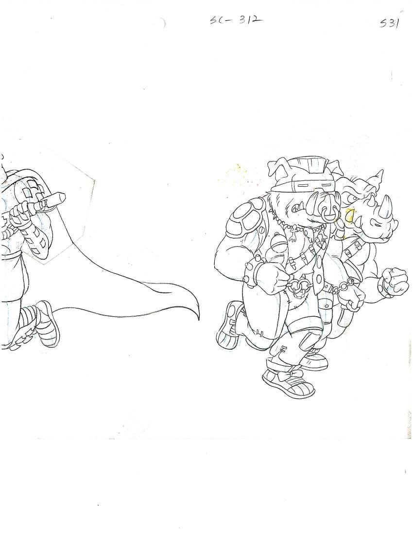 A Pair of (TMNT)Turtles Production Cels and Drawing - 4