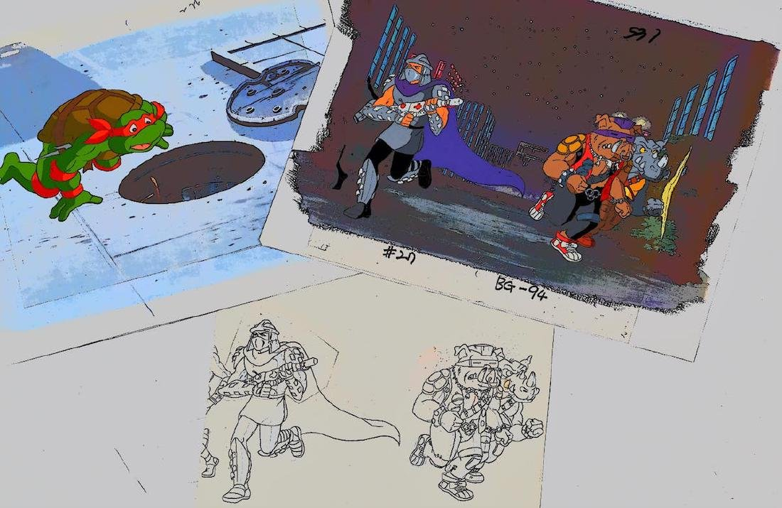 A Pair of (TMNT)Turtles Production Cels and Drawing - 7