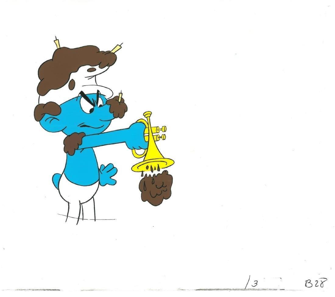 1980's Smurf Prod Cel/Drawing  in a Double Aperture - 2