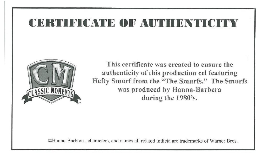 3 1980's Smurf Production Cels - 7