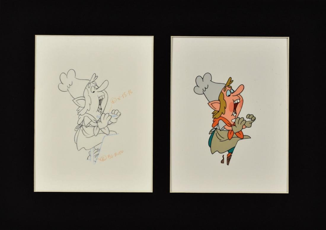 Keebler Elves Production Cel and Drawing featured in a