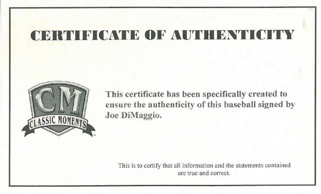 Joe DiMaggio Signed Ball-JSA - 3