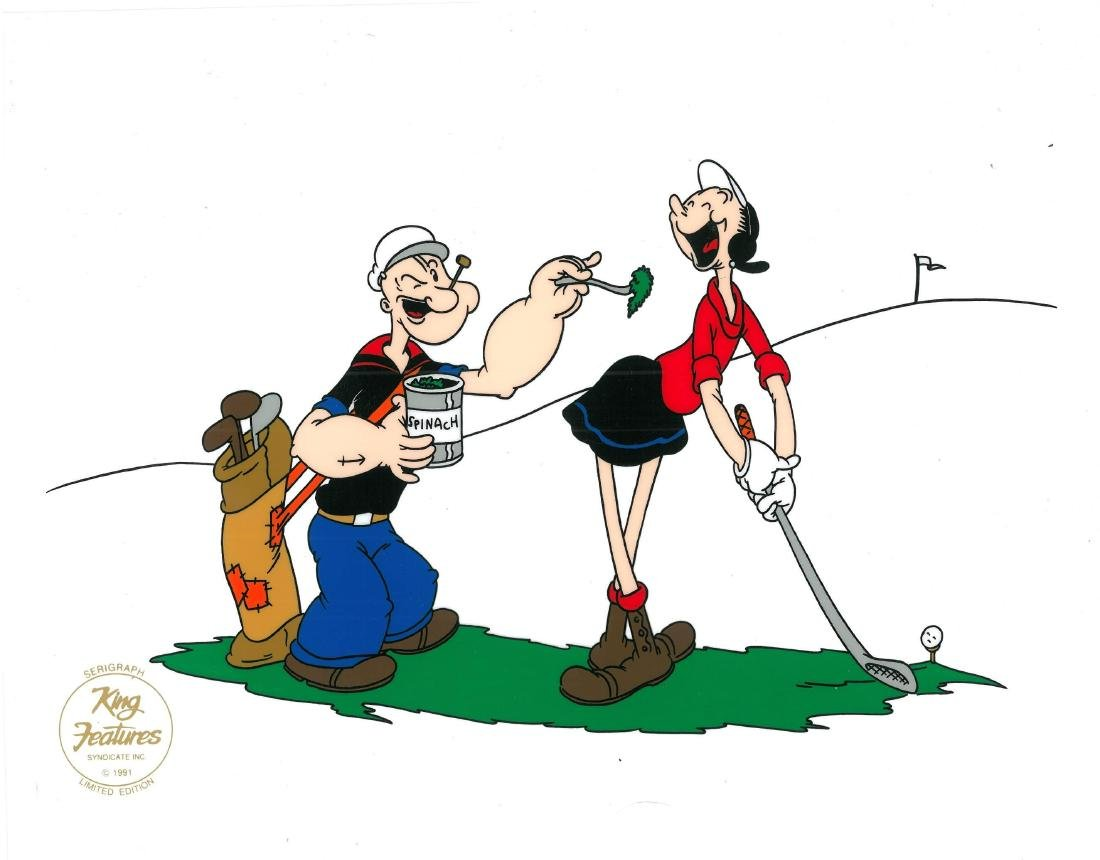 Popeye and Olive Oyl Framed Sericel - 3