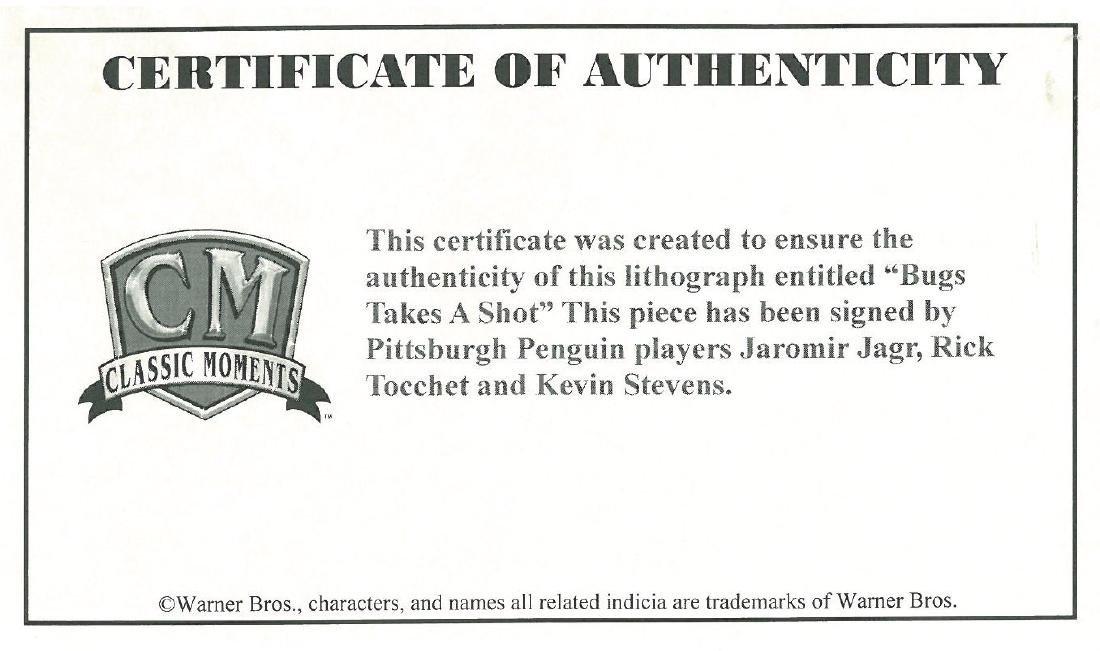 WB & Pitt Penguins signed by Jagr,Tocchet,Stevens - 3