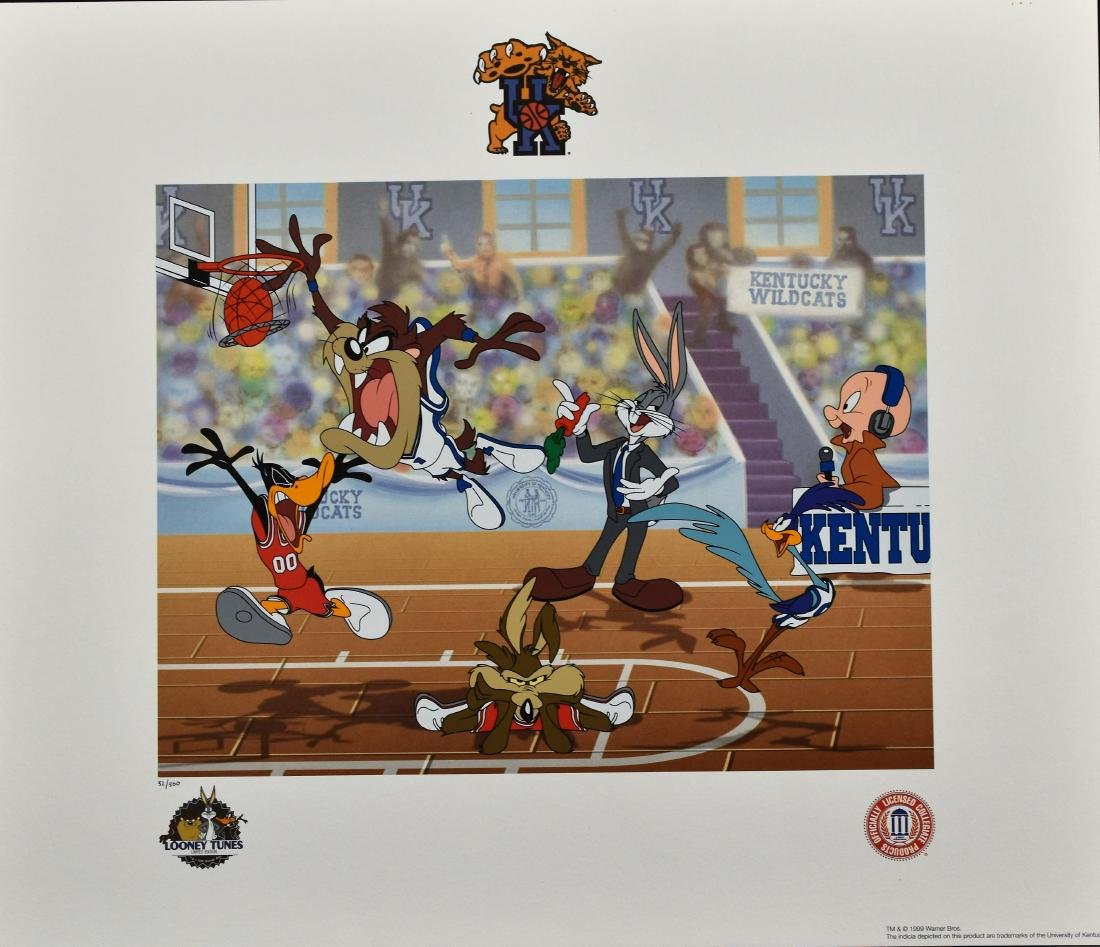 """UK"" Looney Tunes Basketball  L.E. Lithoserigraph"