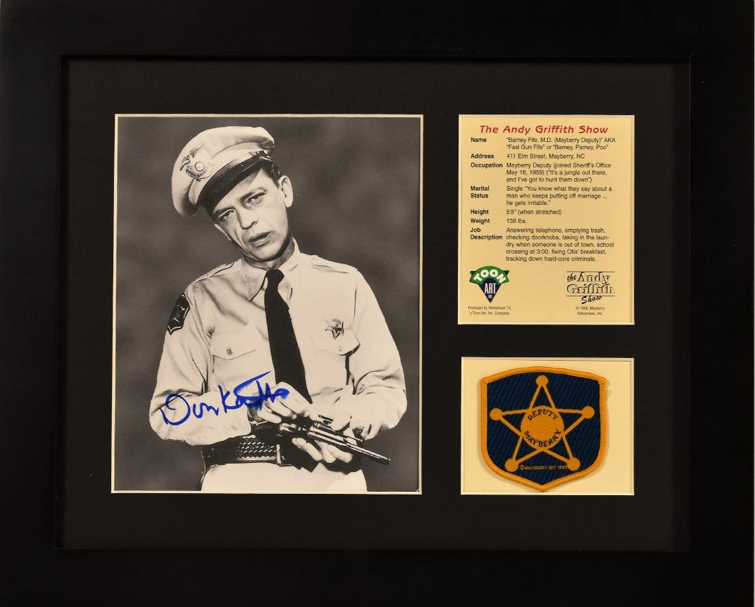 """Signed """"Barney Fife"""" with Deputy Mayberry Patch"""