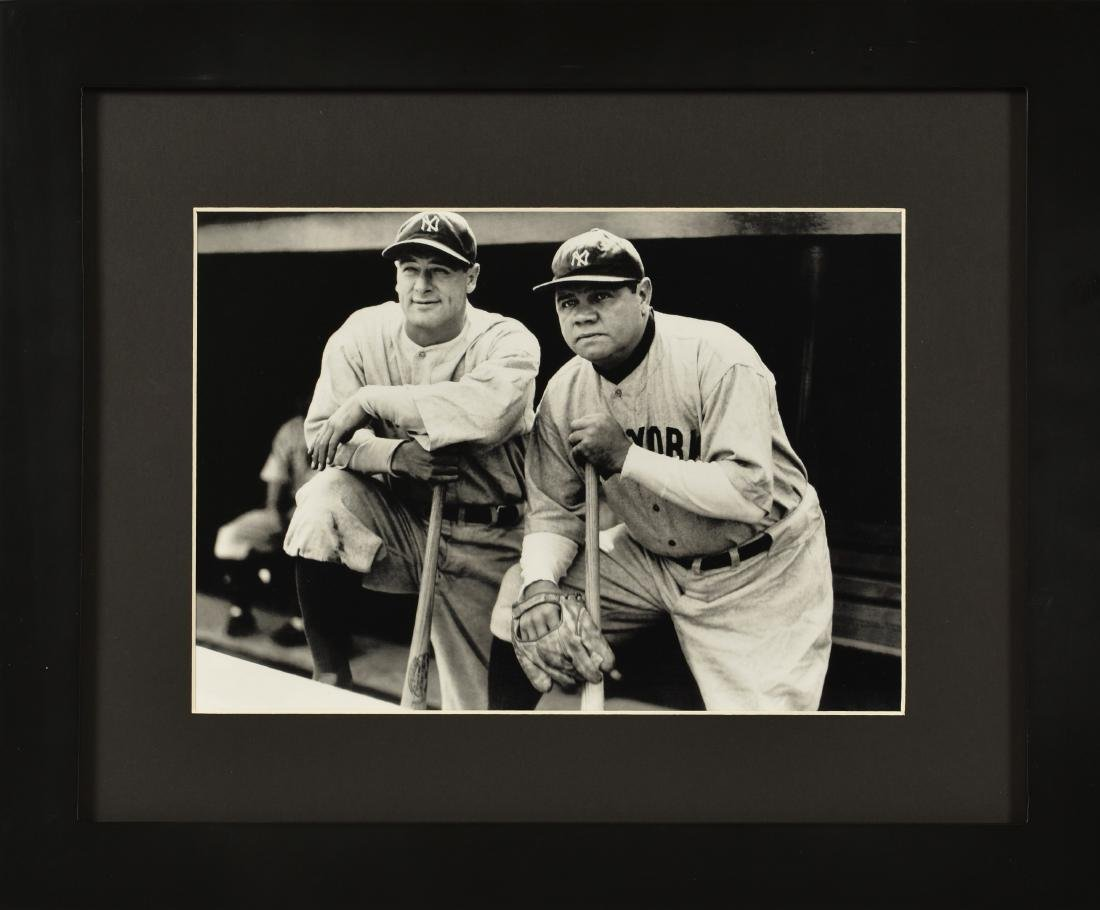 Babe Ruth & Lou Gehrig- Framed Lithograph