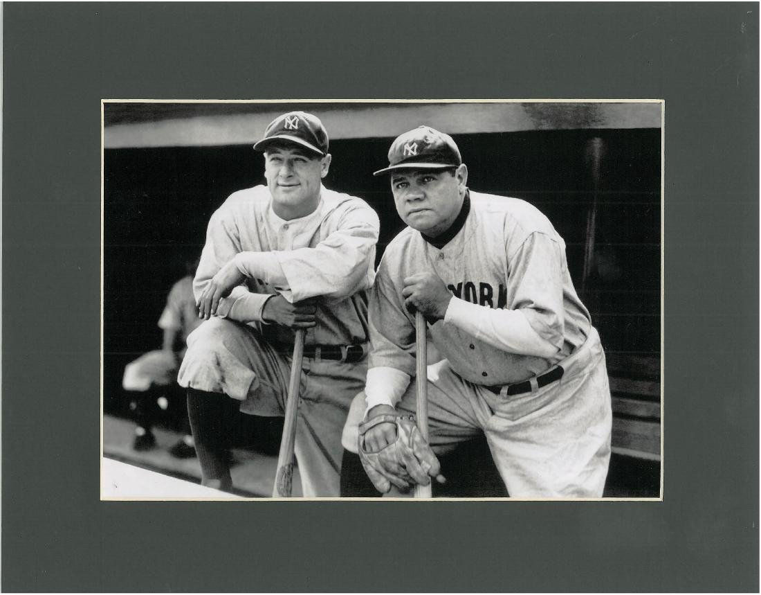 Babe Ruth & Lou Gehrig- Framed Lithograph - 2