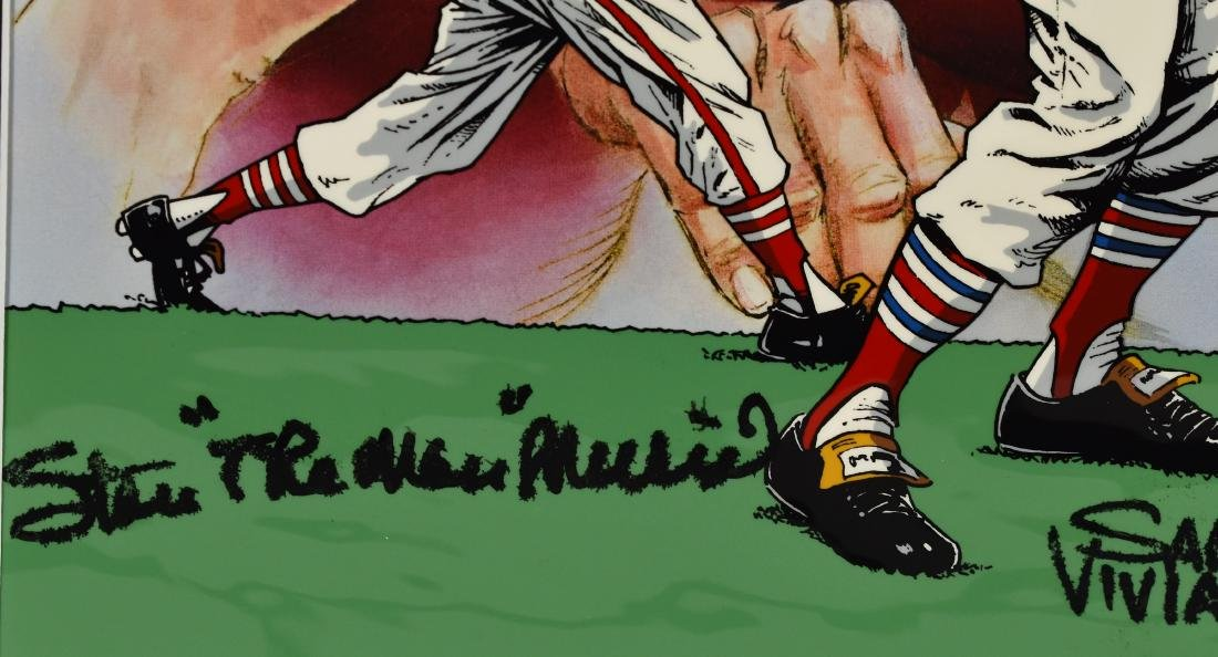 Stan Musial signed L.E. Hand-Painted Cel - 3