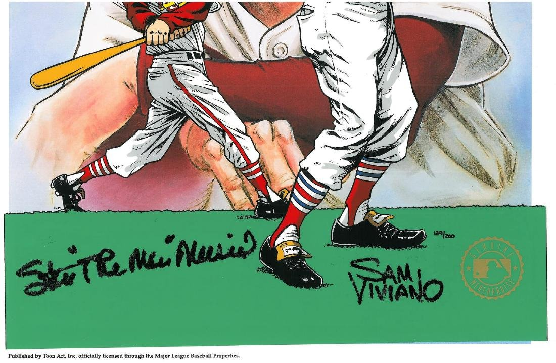 Stan Musial signed L.E. Hand-Painted Cel - 5